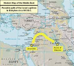 middle east map moses time map of exile during daniel s time babylonia was an ancient