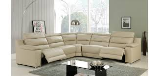 Power Sectional Sofa Elda Power Reclining Sectional Sofa In Beige Leather
