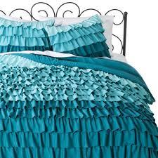 aqua ruffle comforter ruffle comforter set xhilaration target