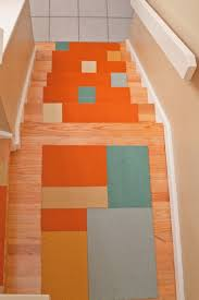 Non Slip Mat For Laminate Flooring Stair Modern And Chic Stair Design With Light Brown Wooden Treads
