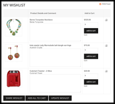 www my wish list ncr retail online wish list