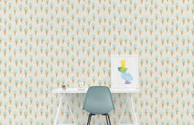 temporary peel off wall paint ice cream wallpaper removable wall decor peel and stick