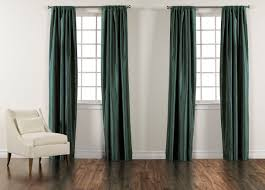 teal satin dupioni rod pocket panel drapery