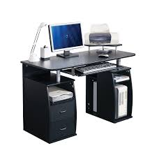 computer desk home office furniture pc table black next day