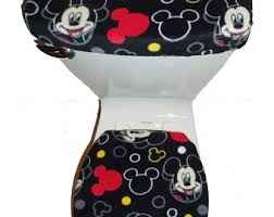 Mickey Mouse Bathroom Accessory Set Mickey Bathroom Etsy