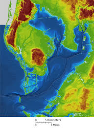 florida topo map high resolution map merges ta bay bathymetry and topography