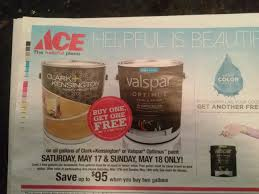 ace buy one get one free paint this weekend home life organized