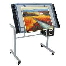 top drafting table zeny adjustable glass top drawing desk craft station drafting table