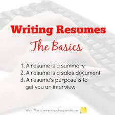 Grant Writer Resume Basics About Writing Resumes