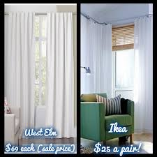 How To Hang Pottery Barn Curtains The West Elm Look On An Ikea Budget How To Hem Curtains Yourself