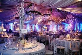 blue and purple wedding blue purple silver uplighting wedding reception decor