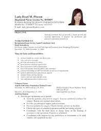 Resume Sample In The Philippines by Example Of Resume For Nurses In The Philippines Augustais