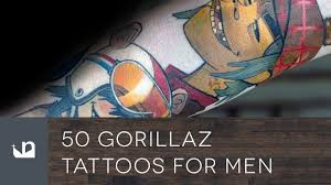50 gorillaz tattoos for men youtube