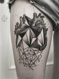30 geometric heart tattoos amazing tattoo ideas