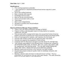 resume awesome cooking resume prep cook resume sample sample