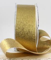 gold metallic ribbon color gold metallic width 1 1 2 inches beautiful sparkly