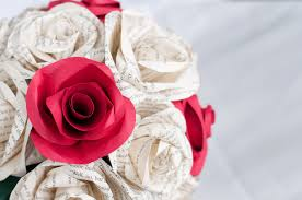 Paper Roses Wedding Book Page Paper Rose Bouquet