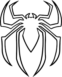 ordinary spiderman colouring pages 2 spider man symbol