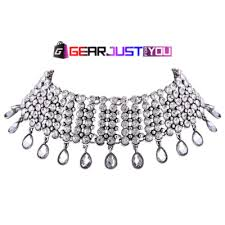chunky chain pendant necklace images Gorgeous crystal chocker chunky chain pendant necklace gear just png