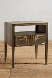geo brass inlay nightstand anthropologie