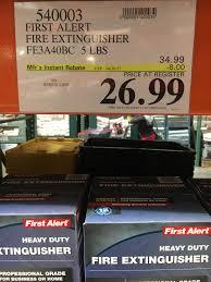 First Alert Kitchen Fire Extinguisher by First Alert 5 Lbs Fire Extinguisher 26 99 Costco Slickdeals Net