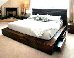 Raised Platform Bed Frame High Rise Bed Frame High Bed Frames Tatami