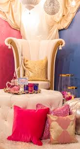 Bedroom Ideas Purple And Gold Shimmer And Shine Design On A Dime Throne Chair Pink Pillows