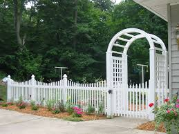 Arch Trellis Fence Panels White Wood Picket Fence Panels Bamboo And Wood Picket Fence