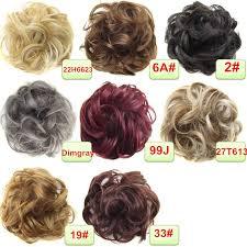 bun scrunchie stylish women wavy ponytail hair bun hairpiece