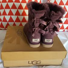 womens ugg boots purple 46 ugg shoes ugg boots bailey bow purple womens size 6 from