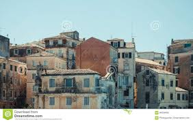 cascade of old mediterranean houses stock photo image 84358485
