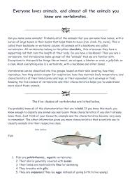 classifying vertebrates by sharonr41 teaching resources tes