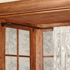 voguish bay window curtain rods also oriel bay window wraparound