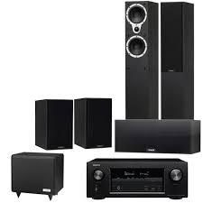 home theater systems denon denon avr x2300w av receiver with tannoy eclipse three speaker pack