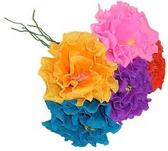 How To Make Mexican Paper Flowers - brightly colored handmade mexican paper flowers fiesta party