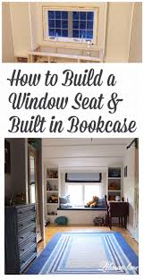 Build Bookcases Diy How To Build A Window Seat And Built In Bookcases Tucker U0027s