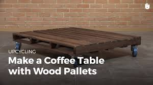 Wooden Coffee Table With Wheels by Diy Pallet Furniture Coffee Table With Wheels Upcycling Youtube