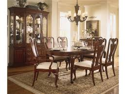Dining Room Set With China Cabinet by American Drew Cherry Grove 45th Canted Glass Door China Cabinet