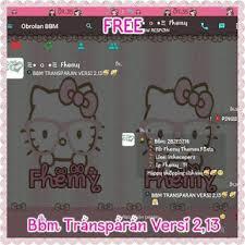 kumpulan tema bbm mod pink transparan lucu versi terbaru v3