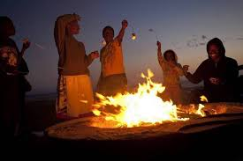 Burning Pit Of Fire - officials propose year round ban on open burning on area beaches