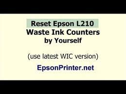 reset printer l210 manual reset epson l210 printer waste ink counter wic reset key wic