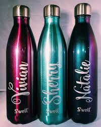personalized name swell bottles bridesmaids groomsmen