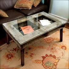 Pallet Coffee Tables Pallet Coffee Table With Glass Top Pallet Furniture Diy