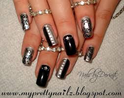 my pretty nailz new years eve party bling nail art design and