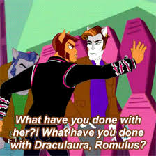 draculaura and clawd high gifs