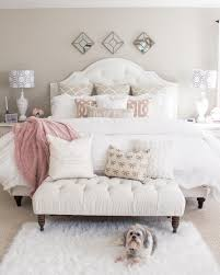 romantic bedroom inspiration sophisticated white and pink