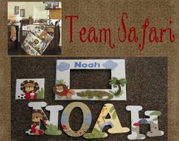 hand painted team safari sports wall letters