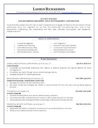 Business Development Job Description Resume by Fresh Inspiration Account Manager Resume 10 Account Cv Template