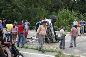 a car accident near the mountain village of trujillo in the west