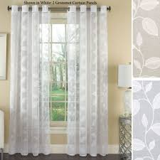 Window Sheer Curtains Avery Semi Sheer Embroidered Grommet Curtain Panels